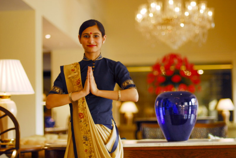 An_Oberoi_Hotel_employee_doing_Namaste,_New_Delhi